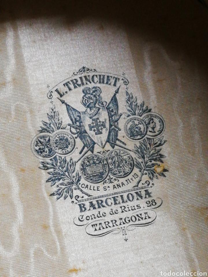 Antigüedades: PRECIOSA CHISTERA SOMBRERO DE COPA L.TRINCHET, BARCELONA- PRINCIPIOS S.XX, T-58 CON CAJA. - Foto 5 - 197035050