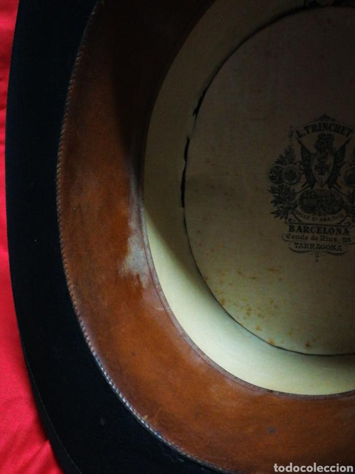 Antigüedades: PRECIOSA CHISTERA SOMBRERO DE COPA L.TRINCHET, BARCELONA- PRINCIPIOS S.XX, T-58 CON CAJA. - Foto 13 - 197035050