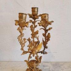 Antigüedades: CANDELABRO DE BRONCE. Lote 197044117