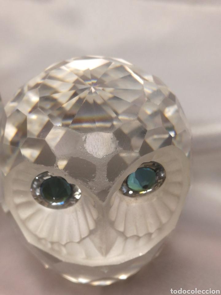 Antigüedades: Pareja búhos cristal swarovsky - Foto 5 - 197051667