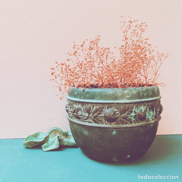 Antigüedades: Preciosisima Jardinera Modernista Floral Antique Unique - Foto 2 - 169390381