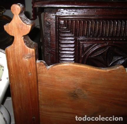 Antigüedades: Banco rustico antiguo con puertas - Foto 5 - 197086082