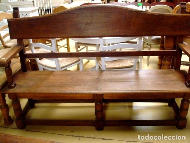 Antigüedades: Banco antiguo en madera de haya - Foto 2 - 197087101