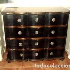 Antigüedades: COMODA EBONIZADA. 4 CAJONES. . Lote 197090675