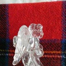 Antigüedades: ANGEL DE CRISTAL CANDELABRO. Lote 197101326