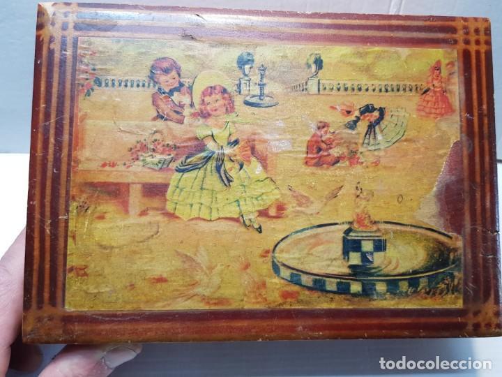 CAJA NECESER DE MADERA CON LLAVE Y COMPLEMENTOS MUY CURIOSA (Antigüedades - Moda y Complementos - Mujer)