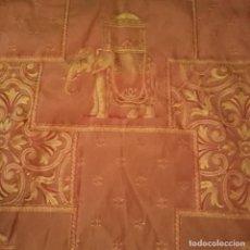 Antigüedades: ANTIGUA CORTINA DE BROCADO ORIENTAL DE LOS AÑOS 20. Lote 197104640
