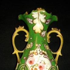 Antigüedades: JARRÓN PORCELANA. FRANCIA. SIGLO XIX - XX.. Lote 197125501