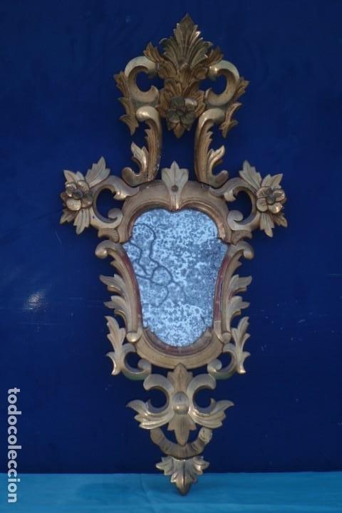 CORNUCOPIA MITAD SIGLO XIX, CON CRISTAL DE EPOCA (Antigüedades - Muebles Antiguos - Cornucopias Antiguas)