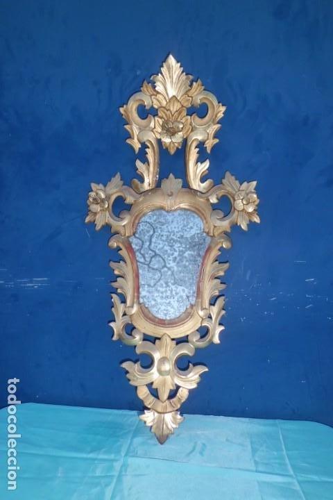 Antigüedades: CORNUCOPIA MITAD SIGLO XIX, CON CRISTAL DE EPOCA - Foto 2 - 197132801