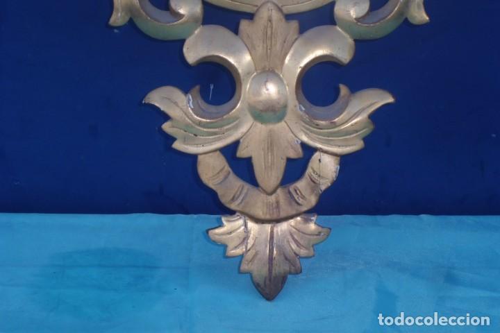 Antigüedades: CORNUCOPIA MITAD SIGLO XIX, CON CRISTAL DE EPOCA - Foto 4 - 197132801