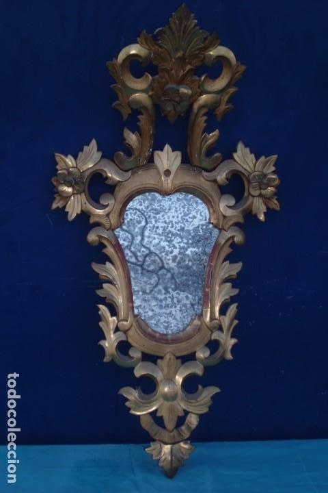 Antigüedades: CORNUCOPIA MITAD SIGLO XIX, CON CRISTAL DE EPOCA - Foto 5 - 197132801