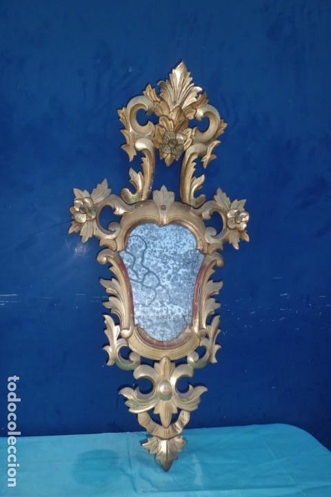 Antigüedades: CORNUCOPIA MITAD SIGLO XIX, CON CRISTAL DE EPOCA - Foto 7 - 197132801