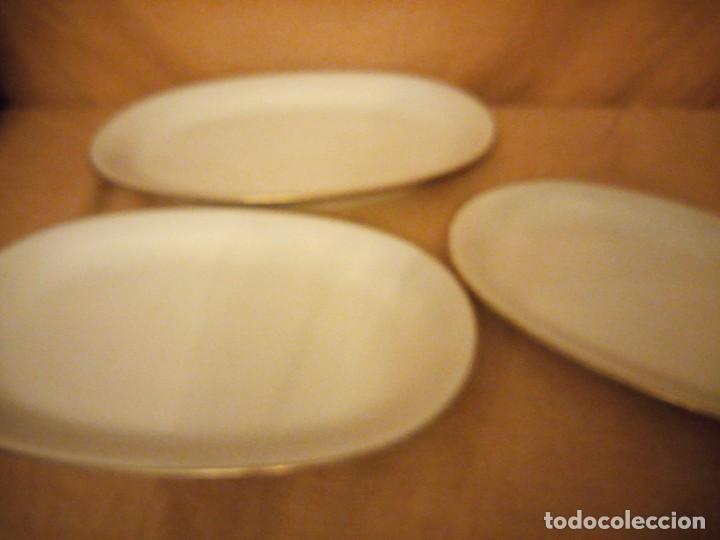 Antigüedades: Lote de 3 fuentes de porcelana royal bavaria,filo de oro,años 40/50 - Foto 4 - 197155281