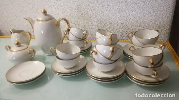 JUEGO DE CAFE SANTA CLARA (Antigüedades - Porcelanas y Cerámicas - Santa Clara)