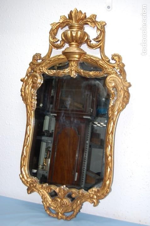 ESPEJO CORNUCOPIA DORADA DE 105 CM ALTURA (Antigüedades - Muebles Antiguos - Cornucopias Antiguas)