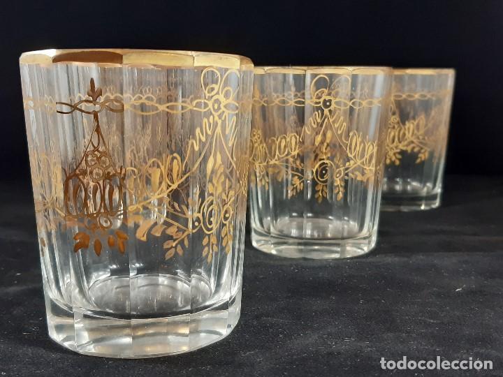Antigüedades: 6 vasos. Cristal de la Granja. Principios Siglo XIX. - Foto 3 - 197208110