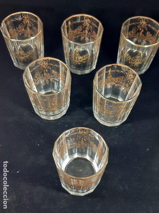 Antigüedades: 6 vasos. Cristal de la Granja. Principios Siglo XIX. - Foto 4 - 197208110