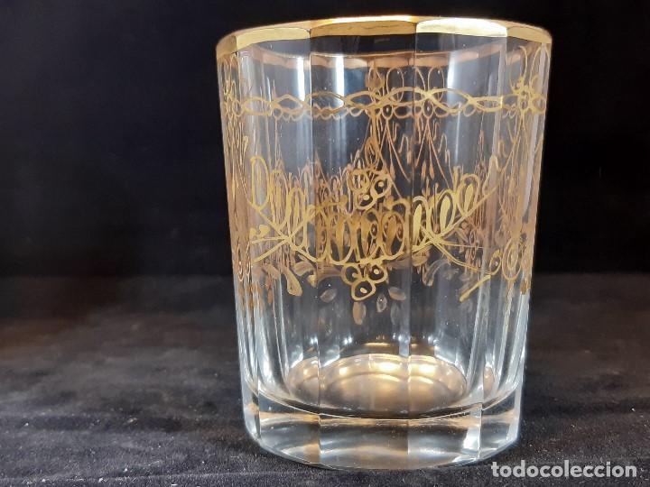 Antigüedades: 6 vasos. Cristal de la Granja. Principios Siglo XIX. - Foto 6 - 197208110