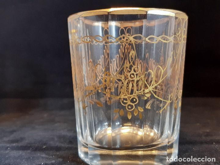 Antigüedades: 6 vasos. Cristal de la Granja. Principios Siglo XIX. - Foto 8 - 197208110