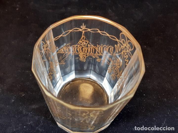Antigüedades: 6 vasos. Cristal de la Granja. Principios Siglo XIX. - Foto 10 - 197208110