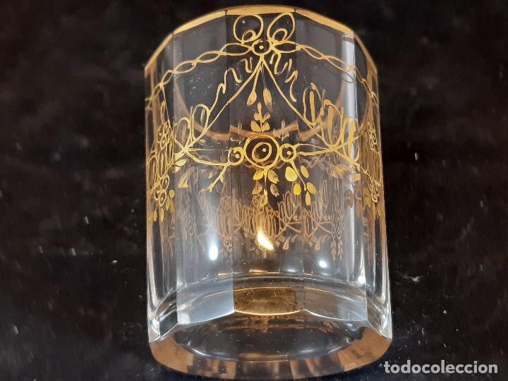 Antigüedades: 6 vasos. Cristal de la Granja. Principios Siglo XIX. - Foto 11 - 197208110