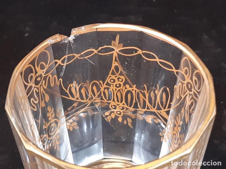 Antigüedades: 6 vasos. Cristal de la Granja. Principios Siglo XIX. - Foto 15 - 197208110