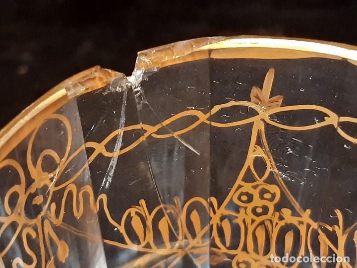 Antigüedades: 6 vasos. Cristal de la Granja. Principios Siglo XIX. - Foto 16 - 197208110