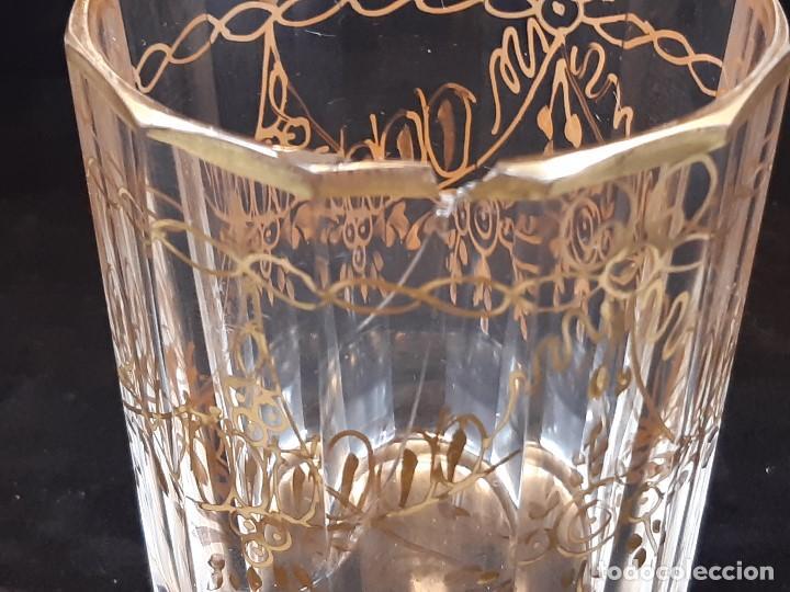 Antigüedades: 6 vasos. Cristal de la Granja. Principios Siglo XIX. - Foto 17 - 197208110