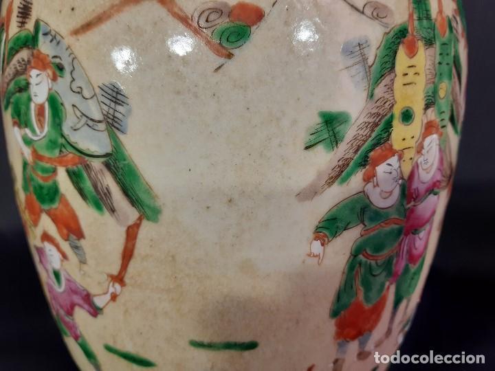 Antigüedades: Pareja jarrones porcelana. Firmados. China. Siglo XIX-XX. - Foto 21 - 197216660