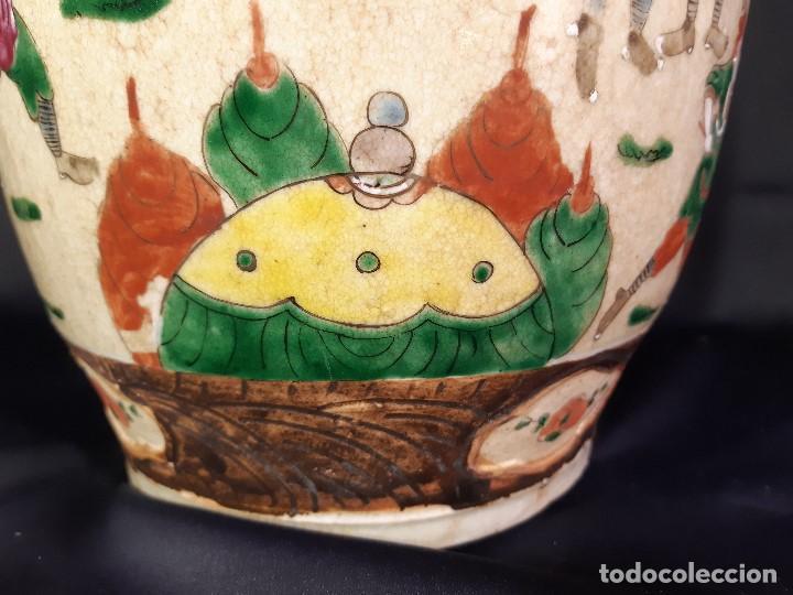 Antigüedades: Pareja jarrones porcelana. Firmados. China. Siglo XIX-XX. - Foto 22 - 197216660