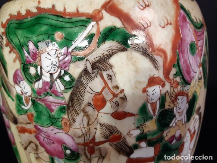 Antigüedades: Pareja jarrones porcelana. Firmados. China. Siglo XIX-XX. - Foto 25 - 197216660