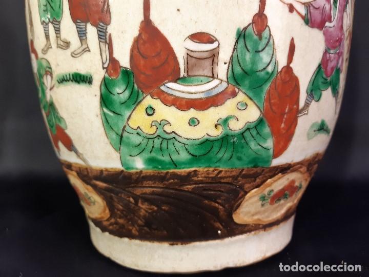 Antigüedades: Pareja jarrones porcelana. Firmados. China. Siglo XIX-XX. - Foto 36 - 197216660