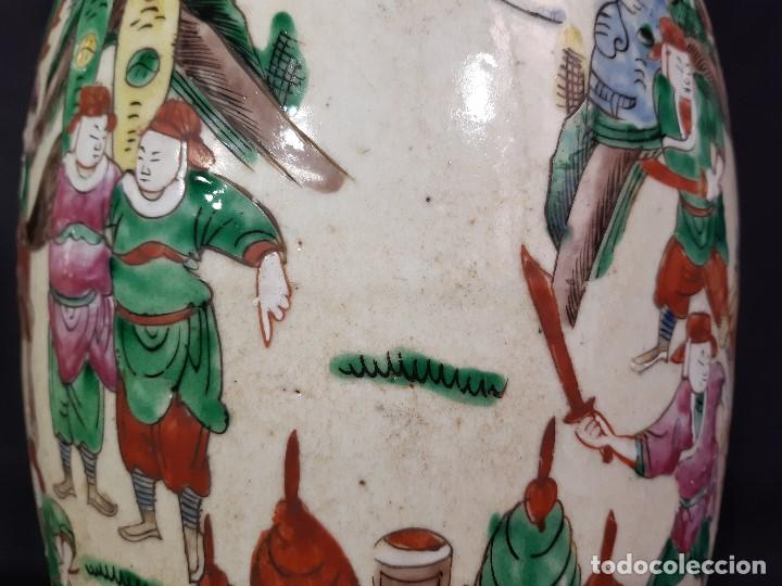 Antigüedades: Pareja jarrones porcelana. Firmados. China. Siglo XIX-XX. - Foto 37 - 197216660