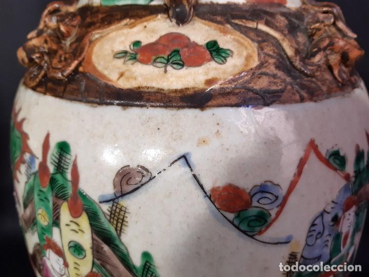 Antigüedades: Pareja jarrones porcelana. Firmados. China. Siglo XIX-XX. - Foto 38 - 197216660
