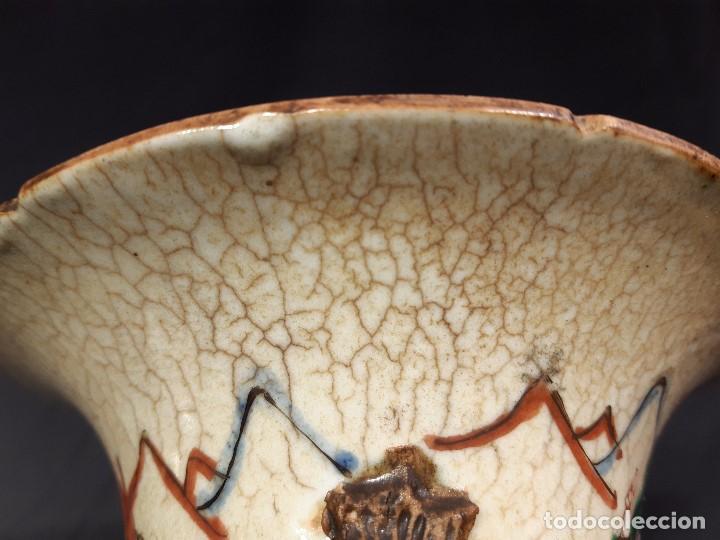 Antigüedades: Pareja jarrones porcelana. Firmados. China. Siglo XIX-XX. - Foto 40 - 197216660