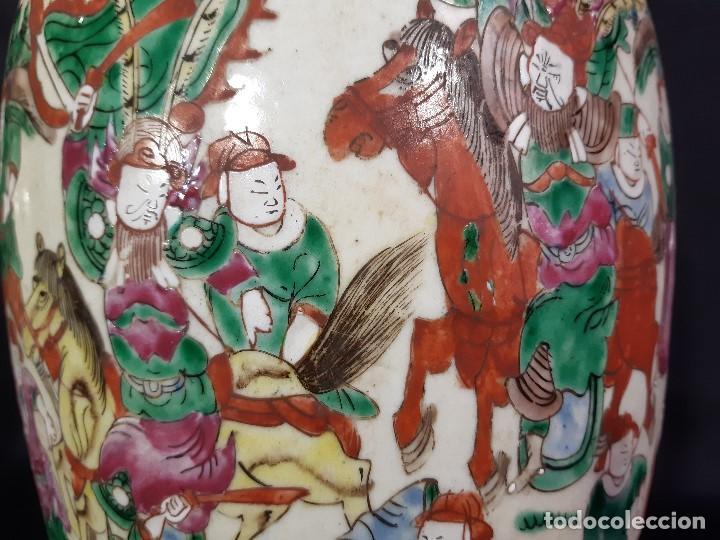 Antigüedades: Pareja jarrones porcelana. Firmados. China. Siglo XIX-XX. - Foto 42 - 197216660