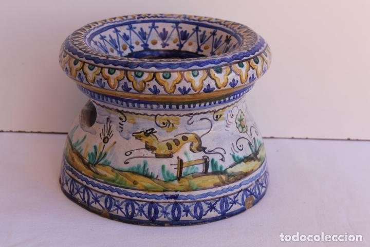 Antigüedades: ESCUPIDERA DE CERAMICA DE TRIANA SIGLO XIX - Foto 4 - 197230812