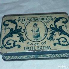 Antigüedades: BELLA CAJA DE METAL LITOGRAFIADO EL MONAGUILLO DULCE. Lote 197236968