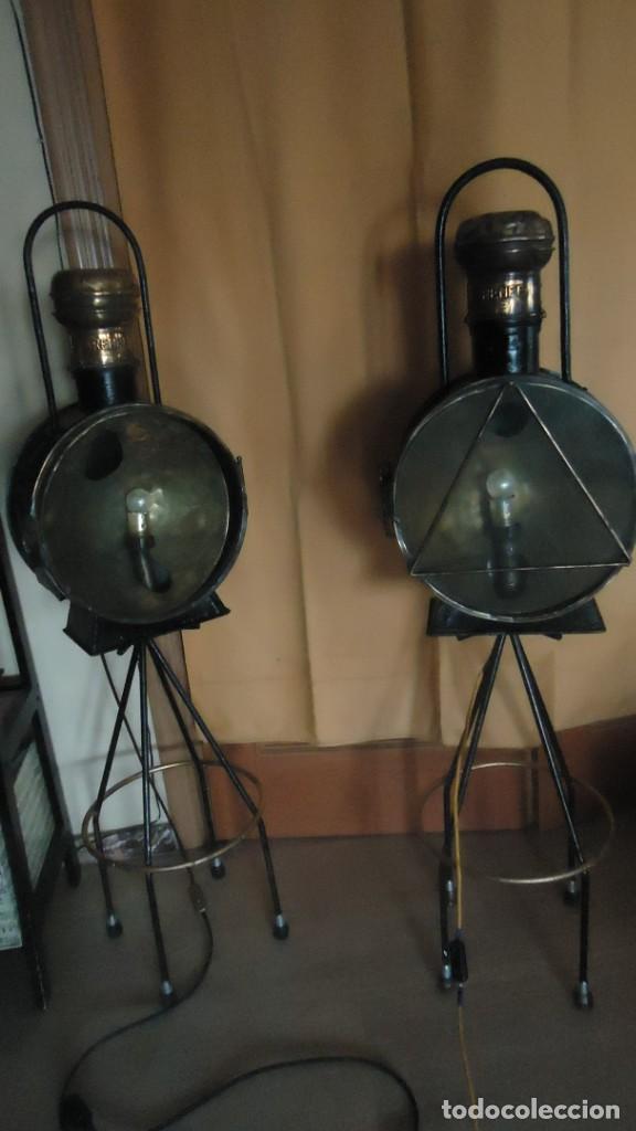 Antigüedades: Faroles de locomotora RENFE, (finales del XIX-principios del XX) - Foto 2 - 197238662