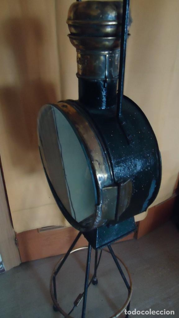 Antigüedades: Faroles de locomotora RENFE, (finales del XIX-principios del XX) - Foto 7 - 197238662
