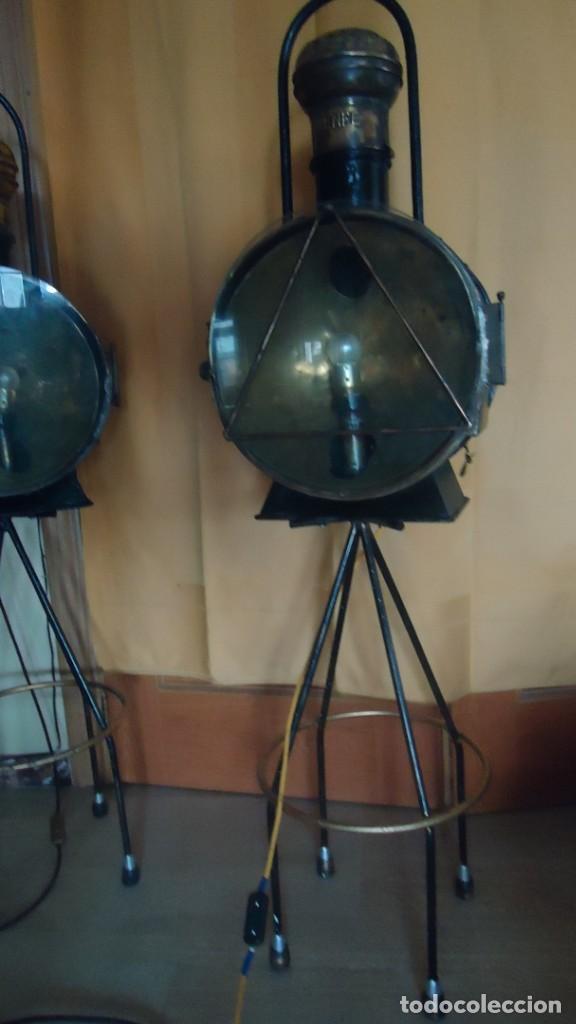 Antigüedades: Faroles de locomotora RENFE, (finales del XIX-principios del XX) - Foto 8 - 197238662