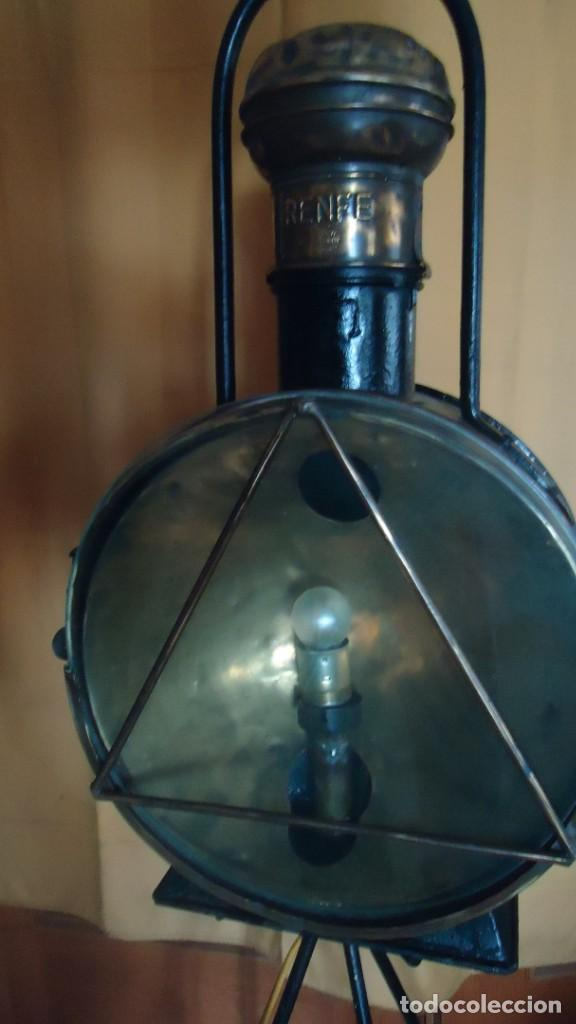 Antigüedades: Faroles de locomotora RENFE, (finales del XIX-principios del XX) - Foto 9 - 197238662