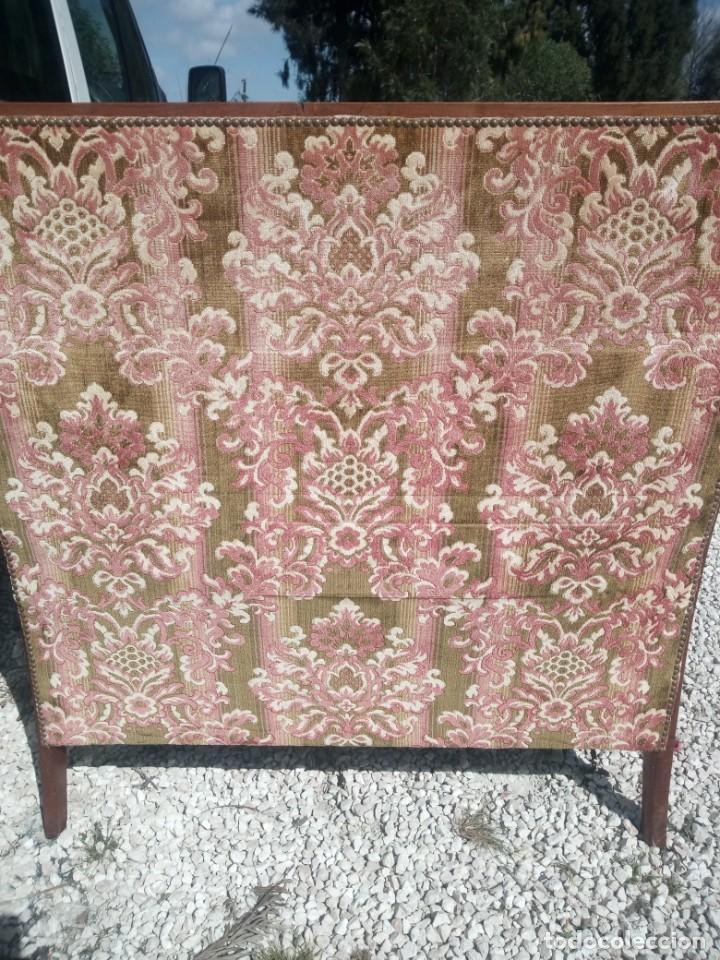 Antigüedades: Antiguo sofá de respaldo alto con 2 banquetas reposa pies a juego,estilo victoriano,siglo xix - Foto 14 - 197242585