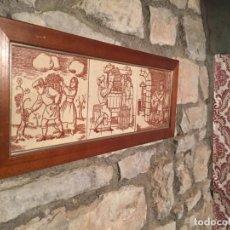 Antiquités: ANTIGUOS 3 AZULEJO / AZULEJOS DE OFICIOS CATALANES DE LA VENDIMIA MUNDO DEL VINO AÑOS 70-80. Lote 197253992