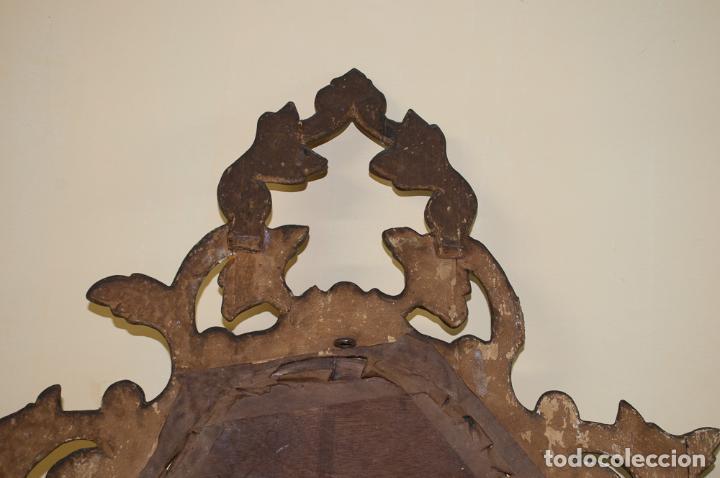 Antigüedades: CORNUCOPIA TALLADA EN MADERA Y DORADA PÀRA RESTAURAR - Foto 5 - 197319217