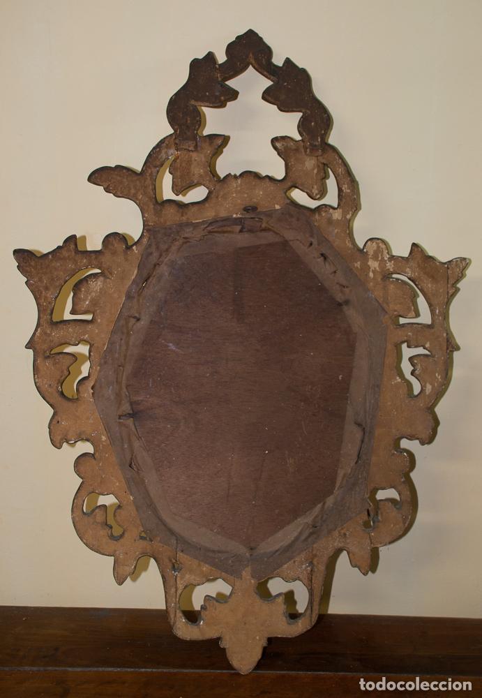 Antigüedades: CORNUCOPIA TALLADA EN MADERA Y DORADA PÀRA RESTAURAR - Foto 7 - 197319217
