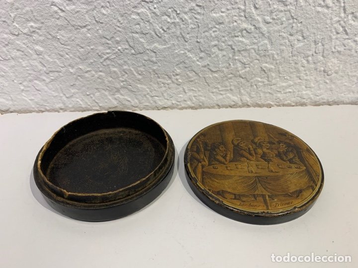 Antigüedades: Caja tabaquera en papier marché. Francia. Principios Siglo XIX. - Foto 4 - 197339722