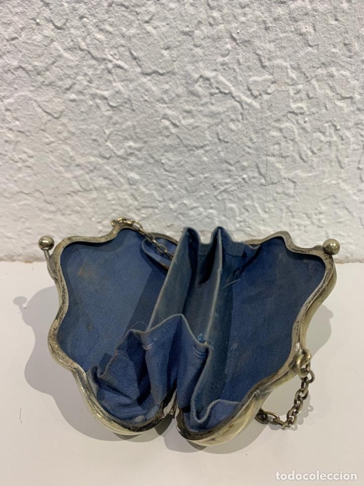 Antigüedades: Monedero en forma de bolso, plata inglesa contrastada. - Foto 6 - 197341607