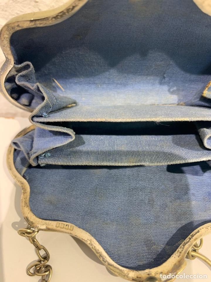Antigüedades: Monedero en forma de bolso, plata inglesa contrastada. - Foto 8 - 197341607